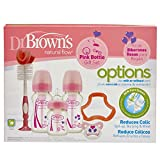 Dr Brown's Options - Juego de regalo de color rosa