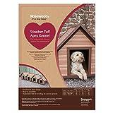 Rosewood 02061 Wetterfeste Spitzdach-Hundehütte für kleine Hunde, aus Holz und Kunststoffwerkstoff, mit verstellbaren Füßen - 4