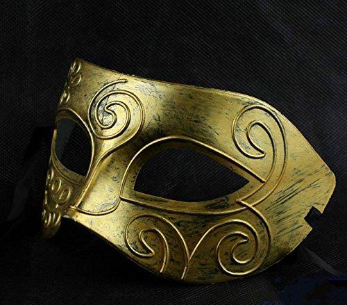 le römischen griechischen Stil Kostüm Party Masquerade Maske (Golden) (Römischen Kostüm Muster)