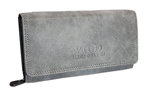 Große Geldbörse für Damen   Portemonnaie mit Münzfach Kreditkartenfächer Ausweisfächer Fotofächer   Brieftasche für Frauen - verschiedene Farben XL 11024