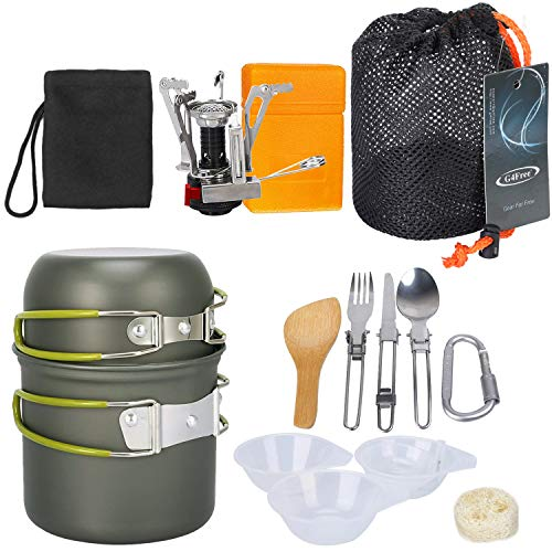 G4Free Pot Pan Set Outdoor Camping Teiliges Aluminium Wandern Kochgeschirr Backpacking Kochen Picknick Schüssel