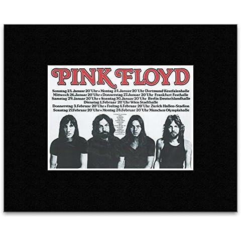PINK FLOYD - Tour de animales alemán 1977 Póster de luz escamoteable - 17,5 x 24,7 cm