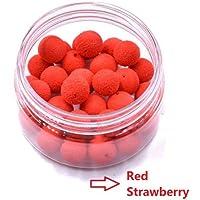 30Pcs/Caja Boilie Bait de Pesca de Carpa Cebos flotandos con aromas de Pesca de Carpa (Rojo-Fresa)