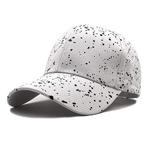 Lvntsx Baseballmütze Print Graffiti Satin Caps für Frauen Straight Brim Fashion Sommer Baseball Hats Männer Schneeflocke Gekritzel -