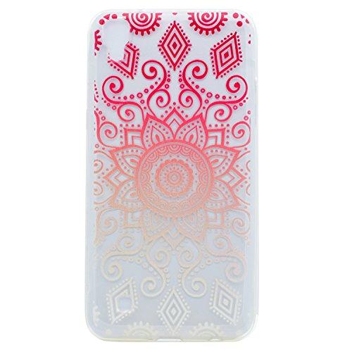 Preisvergleich Produktbild X Power Hülle, LG X Power Hülle, Anlike Silikon Hülle für LG X Power (5,3 Zoll) Handy Hülle Bunte Muster Design Schutzhülle Etui Bumper für LG X Power (5,3 Zoll) - Rosa