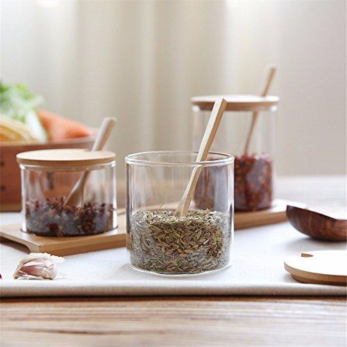 XZLP299 Küchenwaren Glas Gewürz Jar - Apothecary Jar Glas