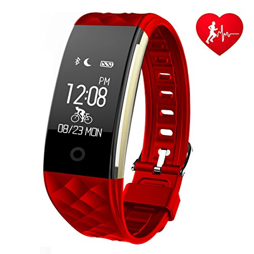 Fitness Tracker Watch GINSY Activity Tracker With Heart Rate Monitor Bluetooth Pedometer Wristband Sleep Monitor Smart Watch For IOS Android Smart Phone