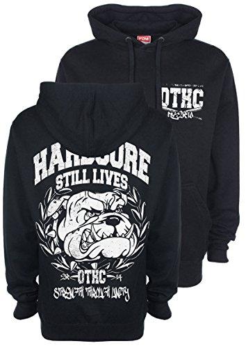 """'Hardcore Still Lives """"Bulldog felpa con cappuccio/con cappuccio BLK. Black XL"""