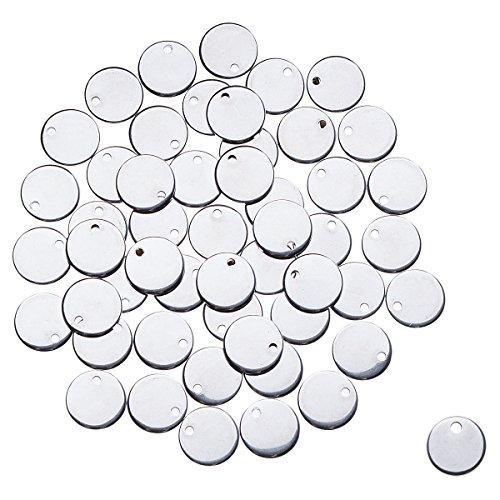 YF Anhänger für Ausweis, Edelstahl, blanko, 4,3 x 2,2 cm, silberfarben, 3 Stück, edelstahl, silber, 10 mm