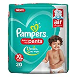 Pampers New X-Large Size Diapers Pants, 20 Count