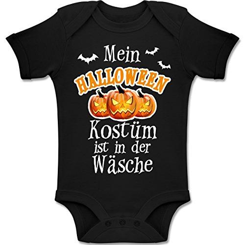 Shirtracer Anlässe Baby - Mein Halloween Kostüm ist in der Wäsche - 6-12 Monate - Schwarz - BZ10 - Baby Body Kurzarm Jungen - Mama-baby-halloween-kostüme