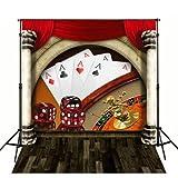 5x 7ft Poker Casino fondos vinilo gamuza ordenador impresas de los niños fondo mr-1893