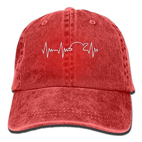 linranshangmao Baseball Jeans Mütze Turtle Heartbeat 1 Damen Snapback Caps...