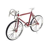 MagiDeal Casa Della Bambole Miniatura Arredamento Mobili Mini Bicicletta Decorazione Giardino Accessori Lega Rosso