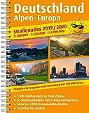 Straßenatlas 2019 / 2020 Deutschland, Alpen, Europa 1:200.000: 1:500.000 und 1:3.000.000 mit digit. Ortsregister zum Download (Straßen- und Freizeitkarte / StuF)