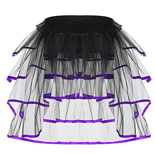 GYYWAN Frauen Hot Fashion Rüschen Tiered Mesh Tüll Tutu Rock Regenbogen Treiben Party Tutu Phantasie Rock Für Dance Stage Performance Clubwear - Tiered Silk Kleid
