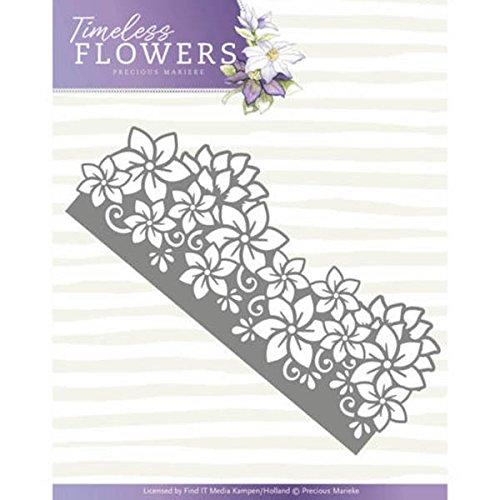 Precious Marieke Stanz- und Prägeschablone PM10120 'Timeless Flowers' - Clematis Border' (Zeitlose Blumen - Bordüre Klematis)
