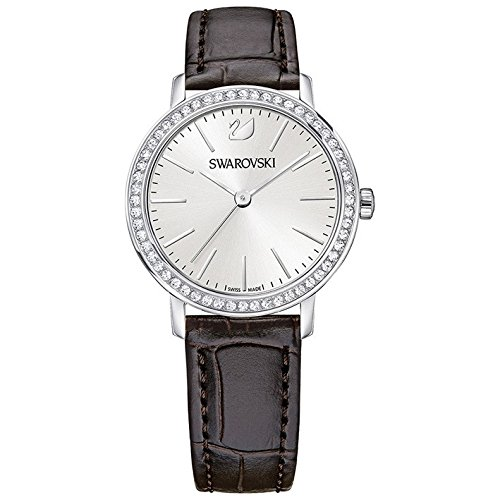 Swarovski Damen-Uhren Analog Quarz One Size Schwarz Leder 32002512