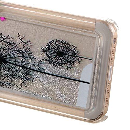 EMAXELERS Schutzhülle iPhone 5C Hülle Transparent Hardcase,iPhone 5C Hülle,iPhone 5C Case Cove,3D Kreativ Muster Transparent Hard Case Cover Hülle Etui für iPhone 5C,Rosa Herz Serie Bling Luxus Glitte Silver 11