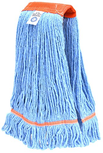 Neun Forty Industrieller Stärke Premium im Loop End Wet Mop Head Refill - 4-Lagig Synthetik Garn Medium Blue, Orange (Mop Wet Besten)