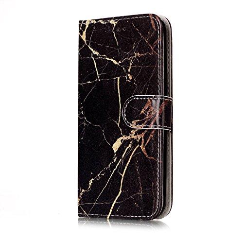 Für Samsung Galaxy J3 Horizontale Flip Case Cover Luxus Blume / Marmor Textur Premium PU Leder Brieftasche Fall mit Magnetverschluss & Halter & Card Cash Slots ( Color : H ) E