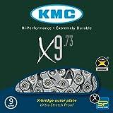 KMC Fahrradkette X 9 - 73, silver/ grey