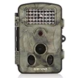 Crenova Trail Camera 12MP 1080P HD Wildlife Camera with 130° Wide Angle Lens 120° Detection 42 Pcs 940nm Updated IR LEDs Night Version up to 20M/65FT Hunting Camera with Water Protected Design