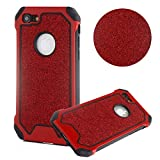 Moiky 3 in 1 Coque pour iPhone XS/iPhone X,Rouge Rigide PC Housse Etui pour iPhone...