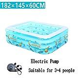 AJZGF Aufblasbare Badewanne / Schwimmbad Schwimmbad für Kinder / Kleinkind / Familie Pool für 3 bis 4 Personen (182 * 145 * 60cm) Badewanne