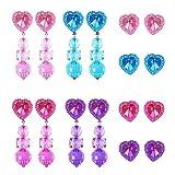 8 Paar Clip-on Ohrringe Herzförmigen Mädchen Spielen Ohrringe un