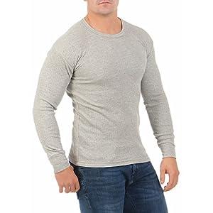 A&LE Fashion Herren Thermo-Unterhemd Langarm Innenfleece für den Winter warm Arbeitsbekleidung angeraut 4035