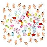 Hifot Baby Dusche Bevorzugungs Partei Dekorationen, Mini-Kunststoff Spaß Baby 50 Stück und Mini Baby Flaschen, Eiswürfel Geburtstagsfeier Taschenfüller Baby Shower Decorations Party Supplies Gift