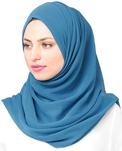 InEssence© New Deep Water Turquise PolyChiffon Scarf Ladies Wrap Regular Size Hijab
