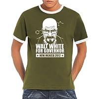 Youngtimer–T-shirt con disegno di Opel Kadett C Coupè Ringer/contrasto T-Shirt S XXL, disponibile in diversi colori, kaki / bianco, S