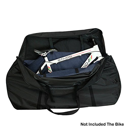 Funda de transporte para bicicleta de Topnaca, para transportarla o almacenamiento al aire libre, negro