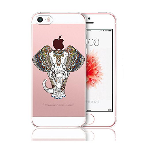 Pacyer® iPhone 5 5S SE Custodia Wild Animals TPU Case Gel Silicone Protettivo Skin Shell Case Cover Per Apple iPhone 5 5S SE Goat