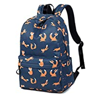 Joymoze Waterproof Retro Colorful Printed Trendy Backpack for Women Cute School Backpack for Girls
