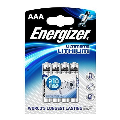 Galleria fotografica Energizer Ultimate Lithium Battery: 8pcs Energizer L92 AAA Batteries (Twin Packs of 3+1 Free) by Energizer