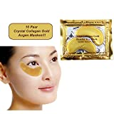 Schlupflid weg 10 Paar Golden Eye Collagen Augen Maske - Top Tipp Gegen Tränensäcke mit Hyaluronsäure!!! Beste Qualität