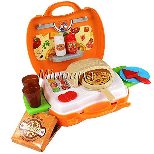 Preisvergleich Produktbild Kinderküche Spielküche Pizzaofen Pizza Backofen Küchespielzeug Pizza im Koffer Spielzeug Set Rollenspiele