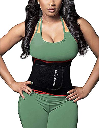 95792c0e4d SHAPERX Waist Trainer Trimmer Slimming Belt Hot Neoprene Sauna Sweat Belly  Band Weight Loss Burner Stomach