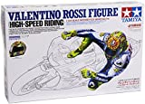 TAMIYA 300014118 - Fahrerfigur Valentino Rossi High  Speed, Bausatz 1:12