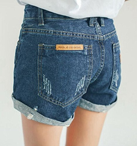 Blansdi Damen Mädchen Frauen Beiläufig Sommer Sexy Hohe Taille Skinny Kurz Mini Jeans Jeansrock Denim Kurze Hose Shorts Hot Pants Clubwear Blau