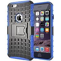 iDoer caso de iPhone 6, iPhone 6S Funda Carcasa Cases caso armor doble capa y de soporte de Silicona Protectora para Apple iPhone 6 6S 4.7 Pulgadas