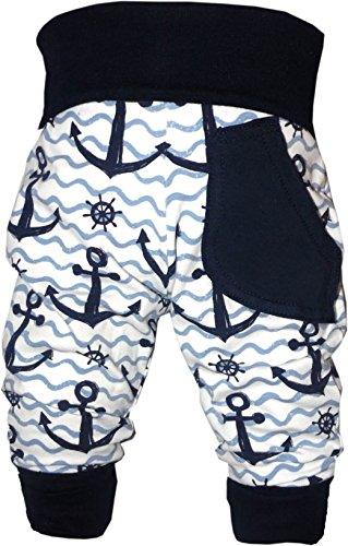 KLEINER FRATZ Baby Pumphose (Farbe Anker-Navy) (Größe 74-86) -