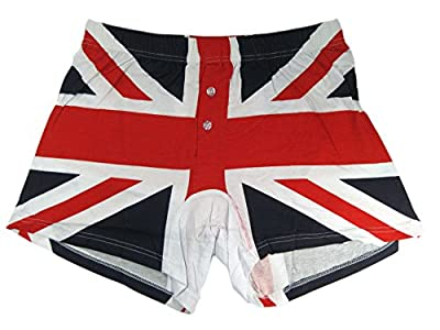 Union Jack Printed Cotton Gents Boxer Shorts - London Souvenir Clothing