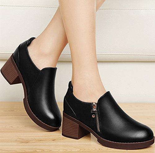 Khskx-zapatos Con Los Partidos De Primavera Todos Los Coreanos (zapatos Zapatos Y Ropa Zapatos En El Invierno Ocio 36 Negro Treinta Y Cinco