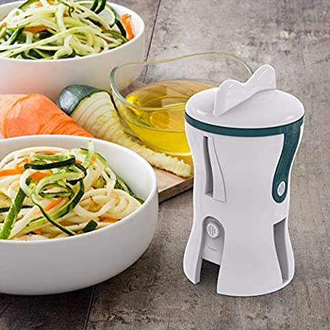 Vegetable Spiralizer Spiral Slicer - Perfect gadget for making Healthy Zucchini Spaghetti Pasta and other Noodles - 2 different blades