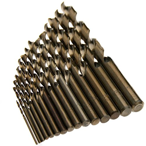 busirde 15pcs M35 1.5mm-10mm HSS Cobalt Spiralbohrer Handspiralbohrer Zylinderschaft Bohrwerkzeug -