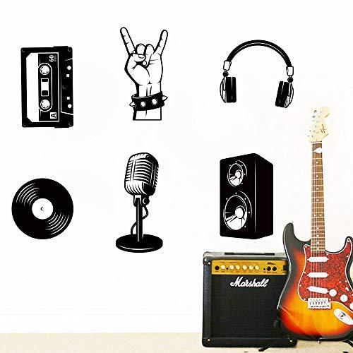 Leben Wandaufkleber Dekoration für Wohnzimmer Kinderzimmer Kreative Dekor Rock Thema Wandtattoos ()